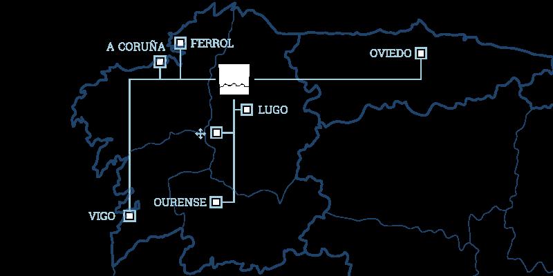 Distancias entre lucuslog y las principales ciudades